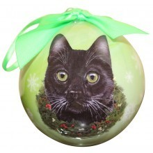 Ball Ornament - Black Cat