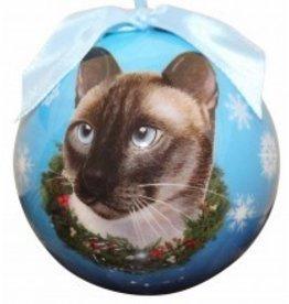 Ball Ornament - Siamese Cat