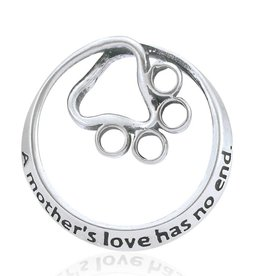 Sterling Silver A Mother's Love Has No End Pendant