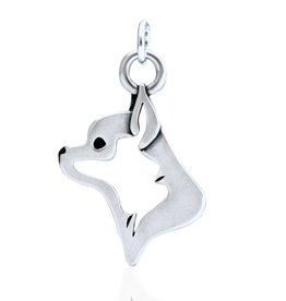 Sterling Silver Chihuahua Smooth Coat Pendant