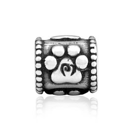 Sterling Silver Baby Paws Bead