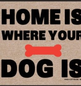 Door Mat - Home is where your dog is