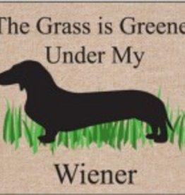 Door Mat - The Grass is Greener Under My Weiner