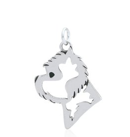 Sterling Silver West Highland White Terrier Pendant, Head