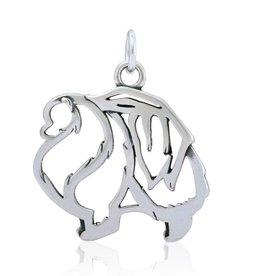 Sterling Silver Pomeranian Pendant, Body