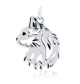 Sterling Silver Cat Head Pendant