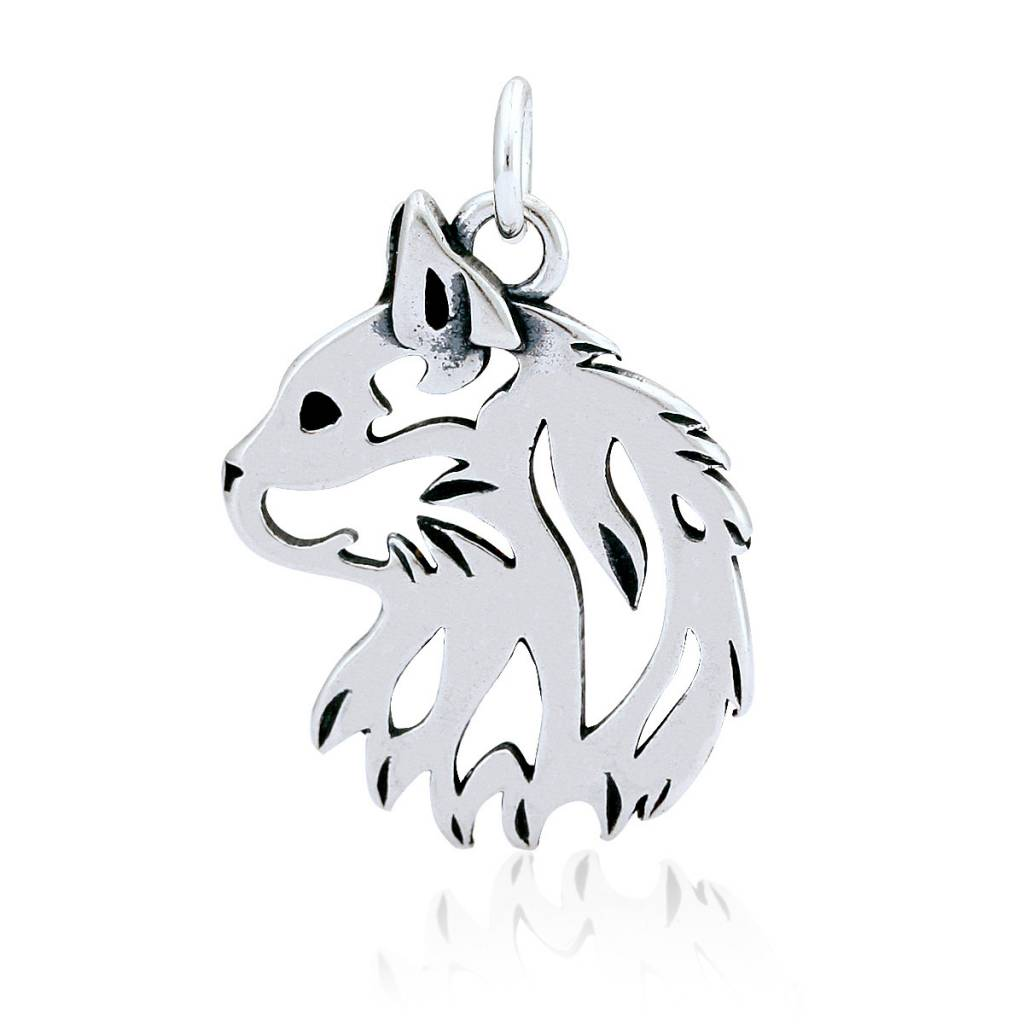 Sterling silver cat head pendant captivating canines sterling silver cat head pendant aloadofball Gallery