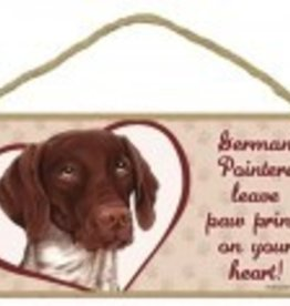Wood Sign German Shorthair Pointer  leave paw prints on your heart!
