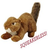"12"" Fluff & Tuff SQUEAKERLSS Red Squirrel"