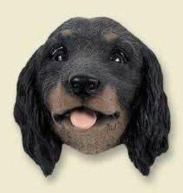 Doogie Head Long Hair Dachshund, Black