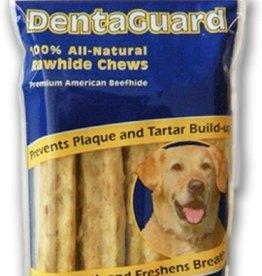 DENTAGUARD 100% ALL-NATURAL RAWHIDE CHEWS, LARGE DOG