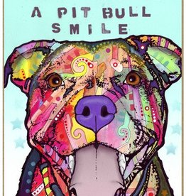 Russo Sign-Pitbull - Happiness is a pitbull smile