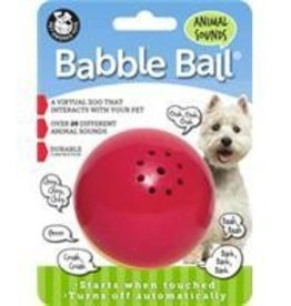 BABBLE BALL ANIMAL SOUND MED