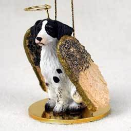 Angel Ornament Brittany-Black/White