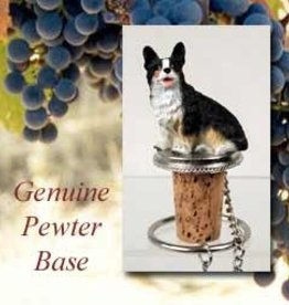 Bottle Topper-Welsh Corgi Cardigan