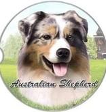 Absorbent Car Coaster - Australian Shepherd