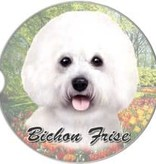 Absorbent Car Coaster - Bichon Frise