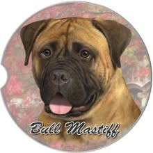 Absorbent Car Coaster - Bull Mastiff