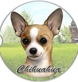 Absorbent Car Coaster - Chihuahua, Tan