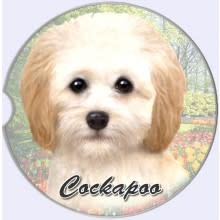 Absorbent Car Coaster - Cockapoo