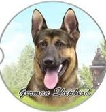 Absorbent Car Coaster - German Shepherd