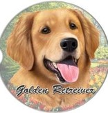 Absorbent Car Coaster - Golden Retriever