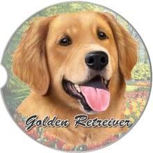 Absorbent Car Coaster - Golden Retriever