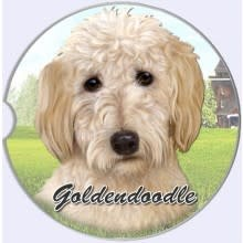 Absorbent Car Coaster - GoldenDoodle