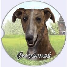 Absorbent Car Coaster - Greyhound