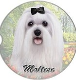 Absorbent Car Coaster - Maltese