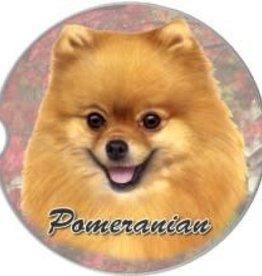 Absorbent Car Coaster - Pomeranian
