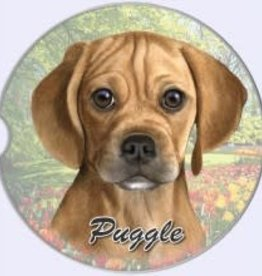 Absorbent Car Coaster - Puggle