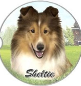 Absorbent Car Coaster - Sheltie
