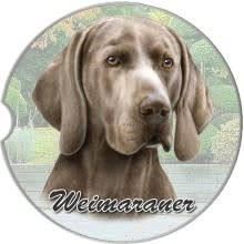 Absorbent Car Coaster - Weimaraner