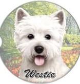 Absorbent Car Coaster - Westie
