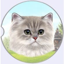 Absorbent Car Coaster - Persian Cat