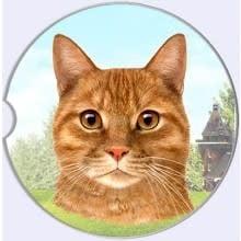 Absorbent Car Coaster - Orange Tabby Cat