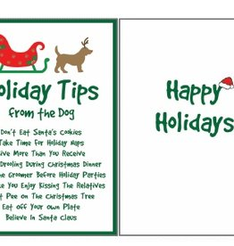 Christmas Card Holiday Tips from the Dog
