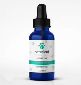 Pet Releaf 1oz 100 mg Hemp Oil  for Dogs & Cats