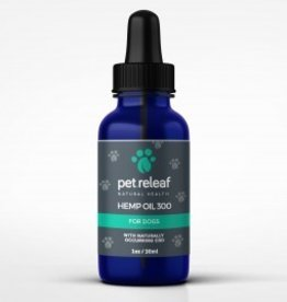 Pet Releaf 1oz Hemp Oil 300 mg Hemp Oil  for Dogs & Cats