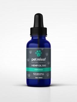Pet Releaf 1oz Hemp Oil 300 mg Hemp Oil  for Dogs & Cats