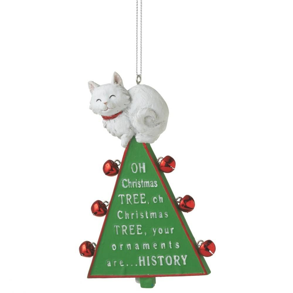 Oh Christmas Tree Cat Ornament - Captivating Canines
