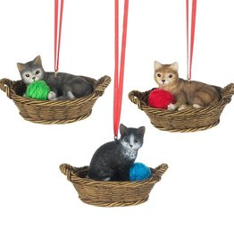 Cat Basket Ornament