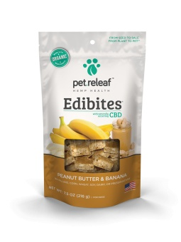 Pet Releaf 6.5 oz Dog Edibites Peanut Butter & Banana