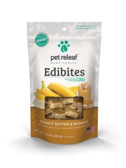 Pet Releaf 6.5 oz Dog Edibites Peanut Butter & Banana