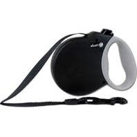 Alcott Retractable Leash Up To 110 Pounds, Black 16ft