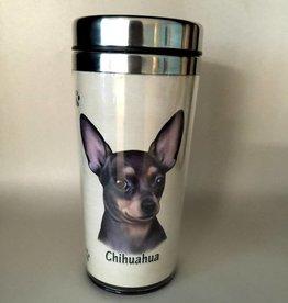Pet Tumbler-Chihuahua, Black