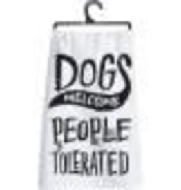 Dish Towel - Dogs Welcome