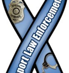 Magnetic Ribbon I Support Law Enforcememt