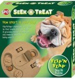 Seek-A-Treat Flip-N-Flap Dog Toy